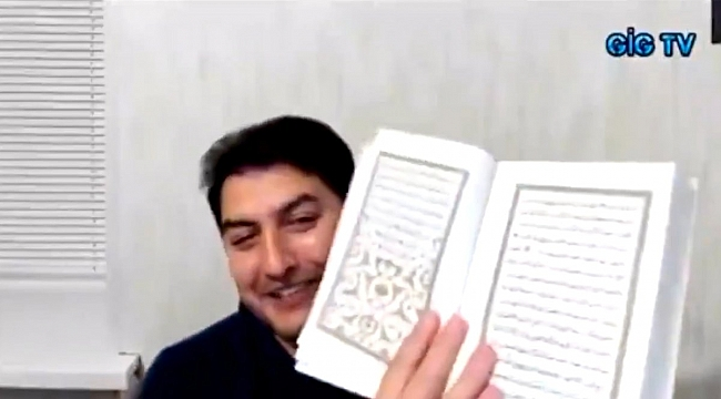 İbrahim Atabey canlı yayında Kur'an-ı Kerim yırttı