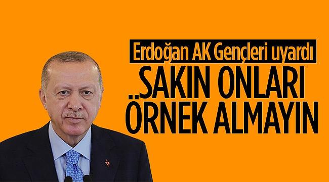 Cumhurbaşkanı Erdoğan: Sakın onları örnek almayın